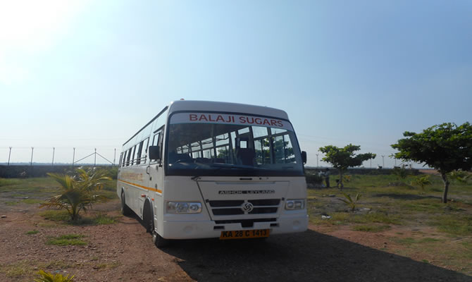 Company Bus for Worker